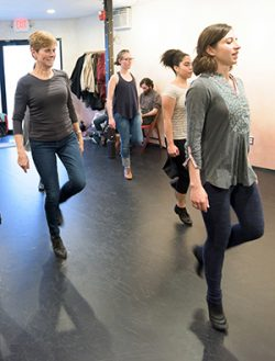 a class at Kieran Jordan Dance Studio